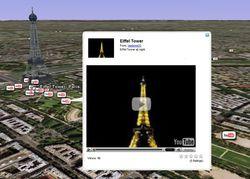 Google earth youtube video tour eiffel