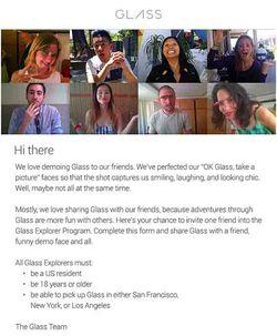 Google glass invitation amis