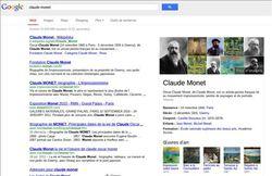 google-graphe-connaissance-claude-monet