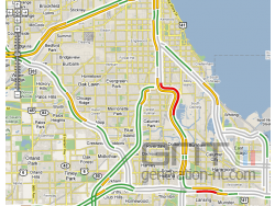 Google map infos trafic chicago small