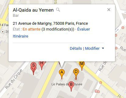 Google Maps Al Qaida Paris