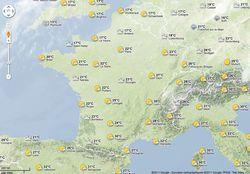 Google-Maps-météo