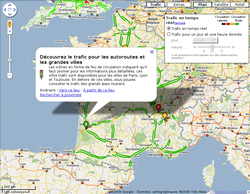google maps affiche le trafic routier en france. Black Bedroom Furniture Sets. Home Design Ideas