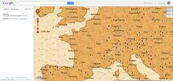 google maps trésors