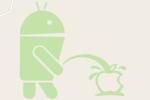 Google Maps : la mascotte d'Android pisse sur la pomme d'Apple