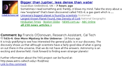 Google news commentaires