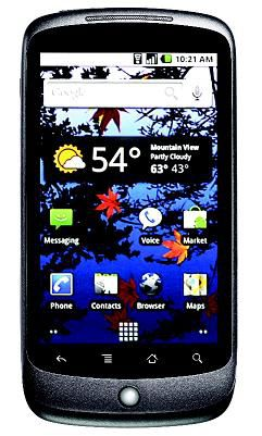Google Nexus One interface 01