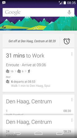 google now bus rappel