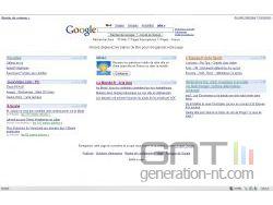 Google - page d'accueil personnalisé
