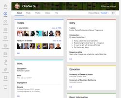 Google+-profil-bio