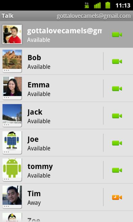 Google Talk Android 01