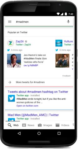 Google-Twitter-hashtag