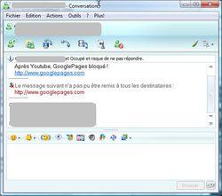 googlepages censure Windows Live Messenger Capture1