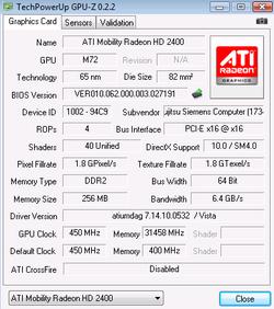 GPU Z GPU Z 0.2.2