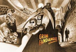 Grim Fandango Remastered - artwork