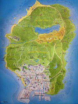 GTA 5 - carte