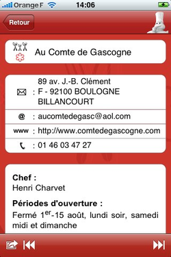 Guide Michelin 2009 iPhone 01