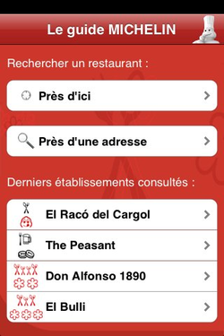Guide Michelin 2009 iPhone 02