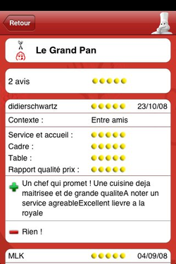 Guide Michelin 2009 iPhone 03