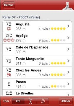 Guide Michelin 2010 iPhone 01