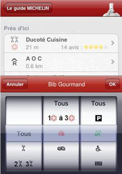 Guide Michelin 2010 iPhone 02