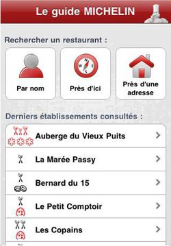 Guide Michelin 2010 iPhone 04