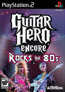 Guitar hero encore rocks the 80s packshot