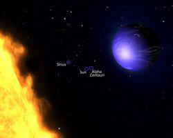 HD 189733b planète bleue