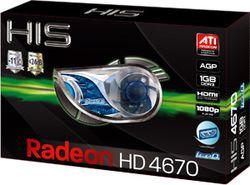 HIS Radeon HD 4670 AGP boîte