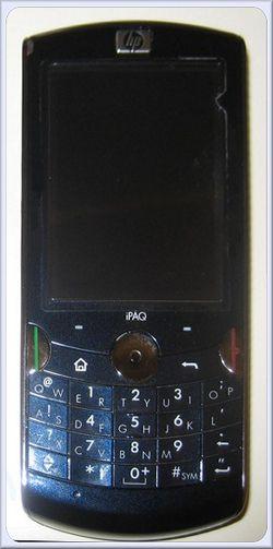 HP silver smartphone