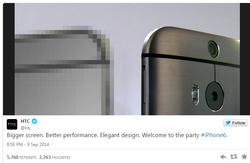 HTC moquerie iPhone 6