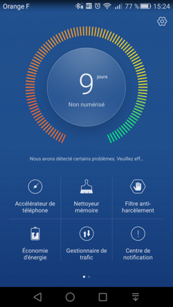 Huawei P8 gestion