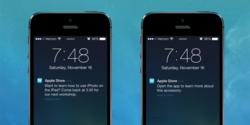 iBeacon message apple store