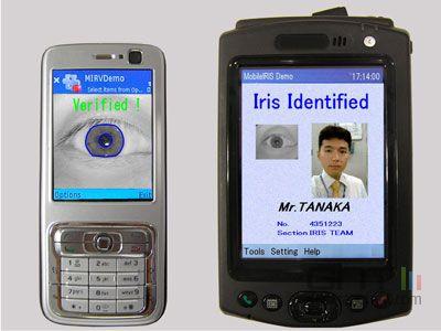 Identification iris oki electric industry