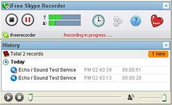 iFree Skype Recorder screen1