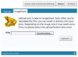 ImageShack uploader screen 1