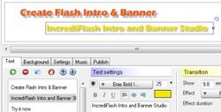 IncrediFlash Intro and Banner Studio screen 1