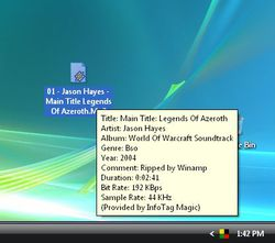 InfoTag Magic screen