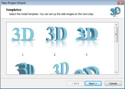 Insofta 3D Text Commander screen 1
