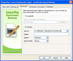 Insofta Document Backup screen 1