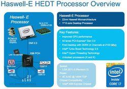 Intel Haswell-E infos