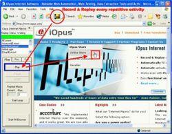 Internet Macros Web Test Recorder screen1