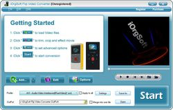 iOrgSoft Flip Video Converter screen