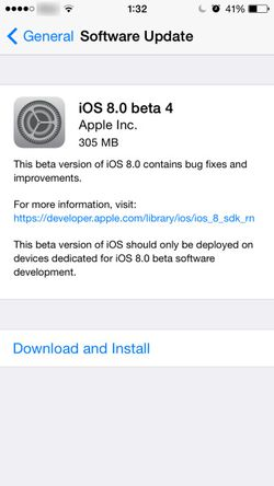 iOS 8 1