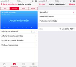 iOS 9 activité sexuelle