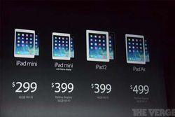 iPad gamme 2014