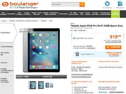 iPad Pro Boulanger 1