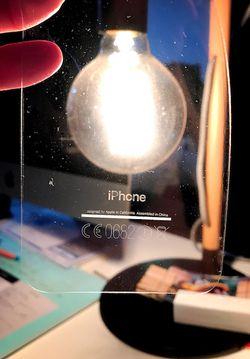 iPhone 7 noir jais fragile
