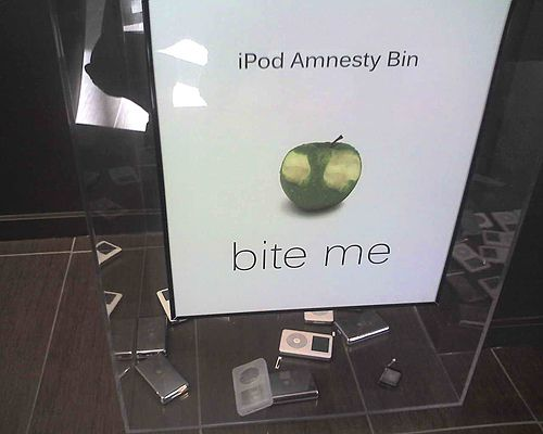 Ipod amnesty bin apple microsoft zune