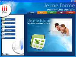 Je me forme a Excel 2010 screen 1